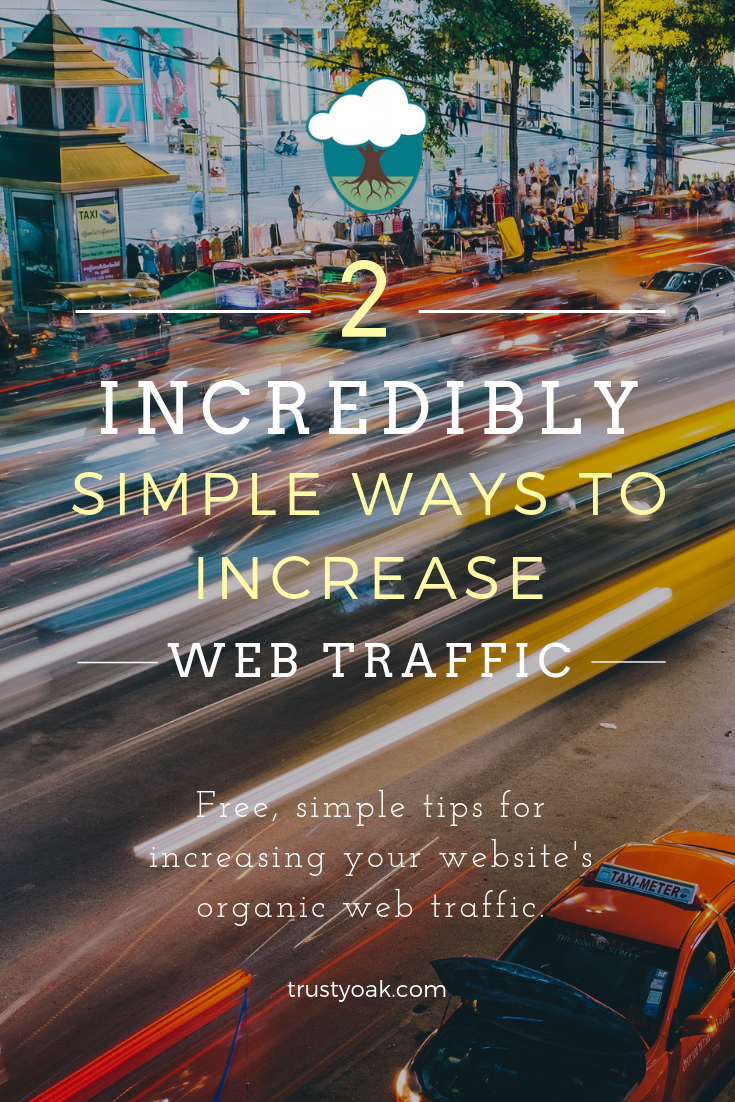 2 incredibly simple (and FREE) ways to increase your website's organic traffic.