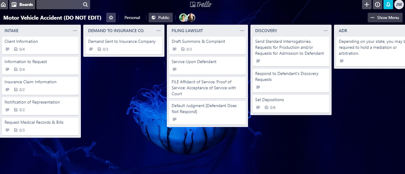 Free Trello Template for Lawyers