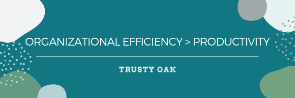 Organizational Efficiency > Productivity