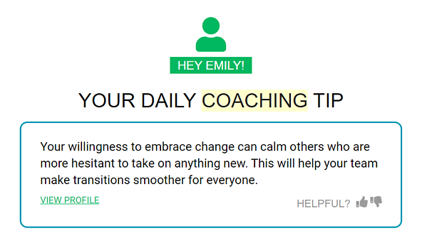 (Image: Screenshot of Emily Fisk's Daily Coaching Tip From Cloverleaf)
